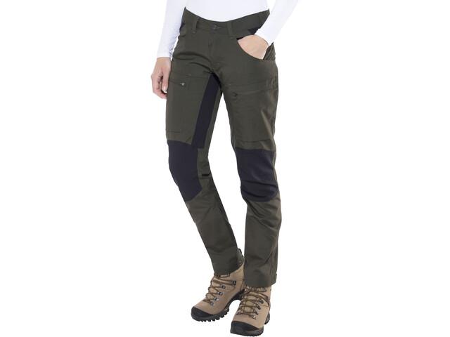 Lundhags Lockne Pantaloni Donna, verde oliva/nero
